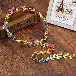 NEW Romantic Boho Rainbow Floral Hippie Headband